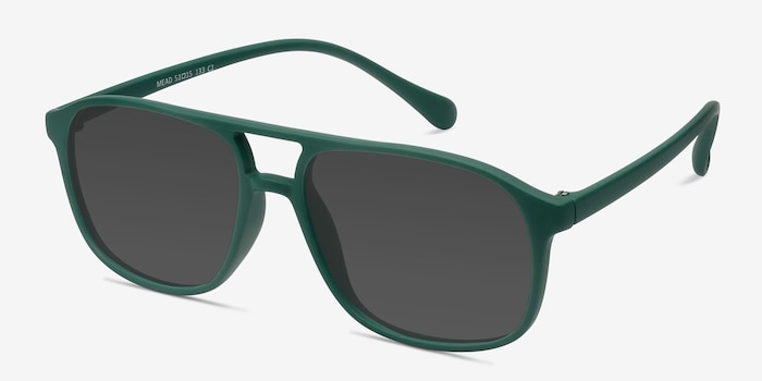 Mead Green Plastic Sunglass Frames from EyeBuyDirect, Angle View