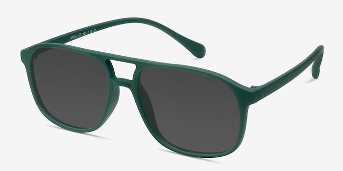 Mead Vert Plastique Soleil de Lunettes d'EyeBuyDirect, Vue d'Angle