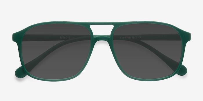 Mead Vert Plastique Soleil de Lunettes d'EyeBuyDirect, Vue Rapprochée