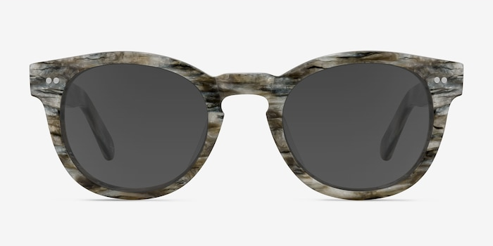 Horizon Stone Acetate Sunglass Frames from EyeBuyDirect, Front View