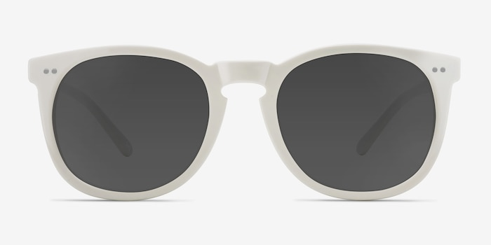 Ethereal Cream Acetate Sunglass Frames from EyeBuyDirect, Front View