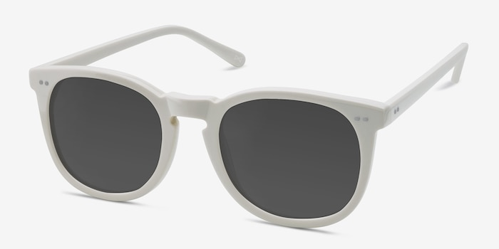 Ethereal Cream Acetate Sunglass Frames from EyeBuyDirect, Angle View