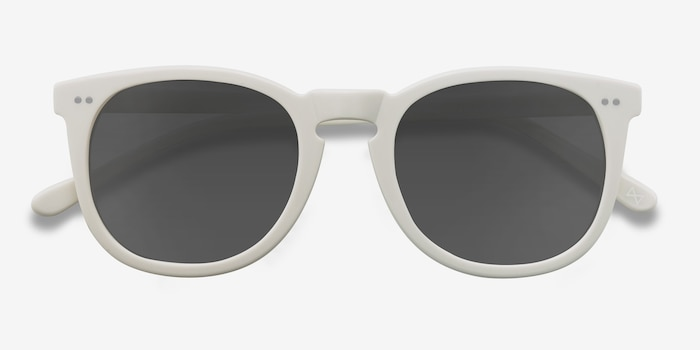 Ethereal Cream Acetate Sunglass Frames from EyeBuyDirect, Closed View