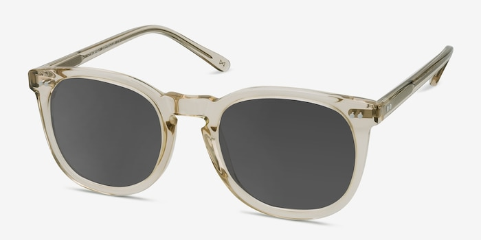 Ethereal Champagne Acetate Sunglass Frames from EyeBuyDirect, Angle View