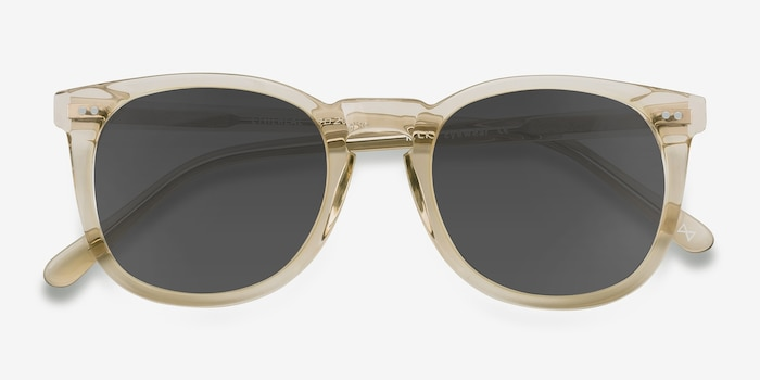 Ethereal Champagne Acetate Sunglass Frames from EyeBuyDirect, Closed View