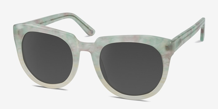 Laohu Floral Acetate Sunglass Frames from EyeBuyDirect, Angle View