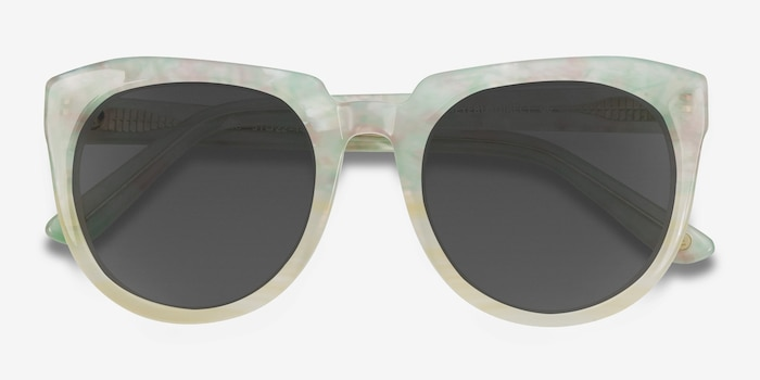 Laohu Floral Acetate Sunglass Frames from EyeBuyDirect, Closed View