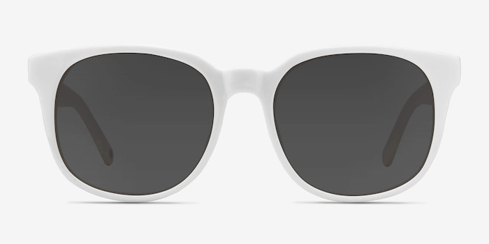 Tempest White Acetate Sunglass Frames from EyeBuyDirect, Front View