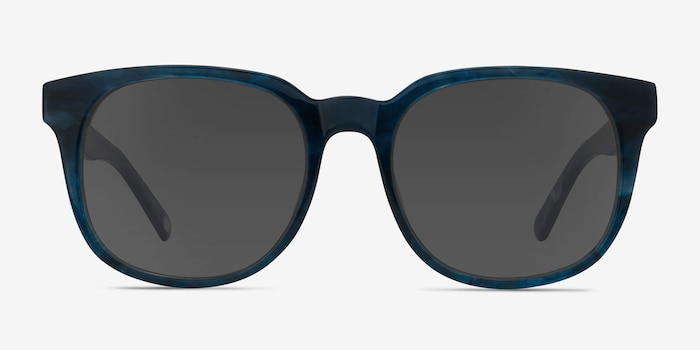 Tempest Blue Acetate Sunglass Frames from EyeBuyDirect, Front View