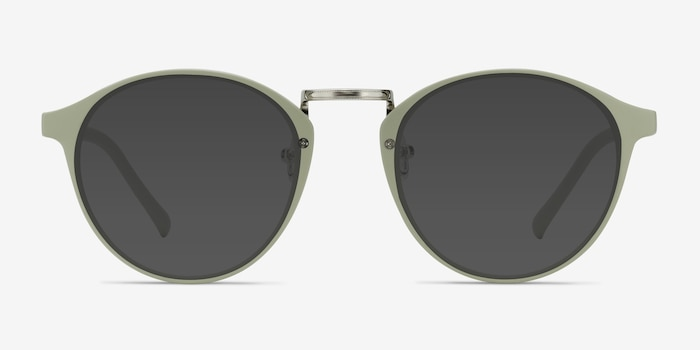 Millenium Light Green Plastic Sunglass Frames from EyeBuyDirect, Front View