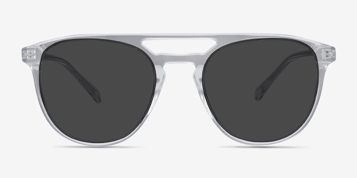 Meadow Clear Plastic Sunglass Frames from EyeBuyDirect, Front View