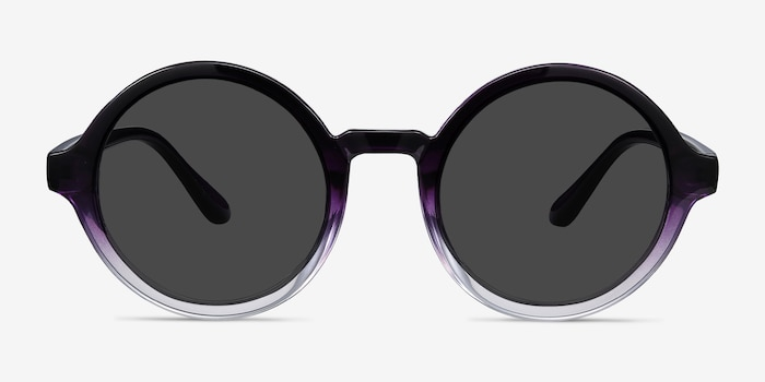 Solstice Purple Clear Plastic Sunglass Frames from EyeBuyDirect, Front View