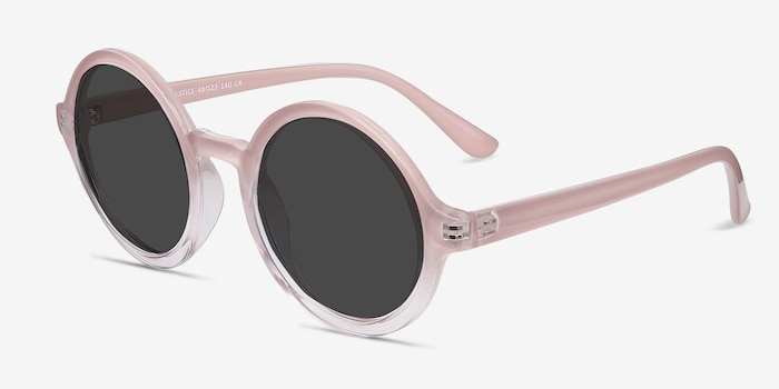 Solstice Pink Clear Plastic Sunglass Frames from EyeBuyDirect, Angle View