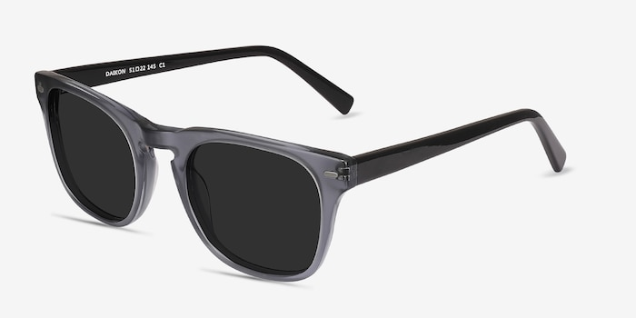 Daikon Gray Acetate Sunglass Frames from EyeBuyDirect, Angle View