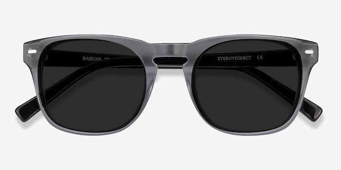 Daikon Gray Acetate Sunglass Frames from EyeBuyDirect, Closed View