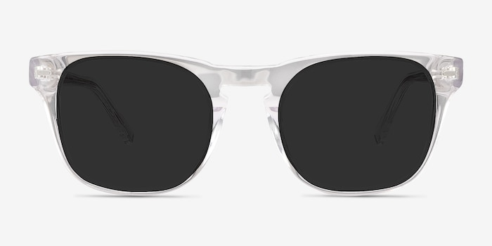 Daikon Clear Acetate Sunglass Frames from EyeBuyDirect, Front View