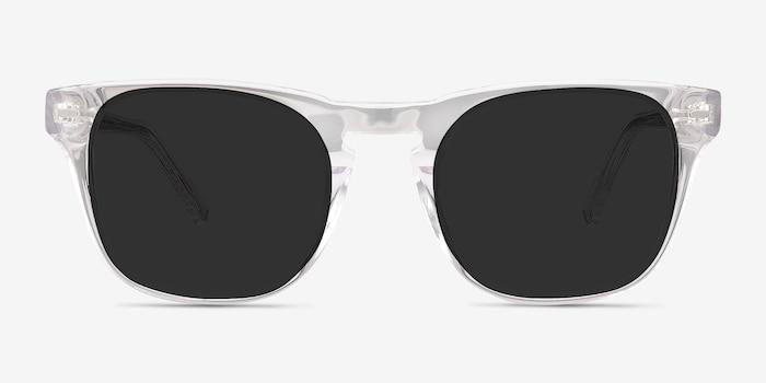 Daikon Transparent Acétate Soleil de Lunettes d'EyeBuyDirect, Vue de Face