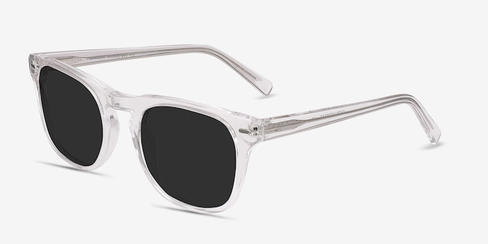 Daikon Clear Acetate Sunglass Frames from EyeBuyDirect, Angle View