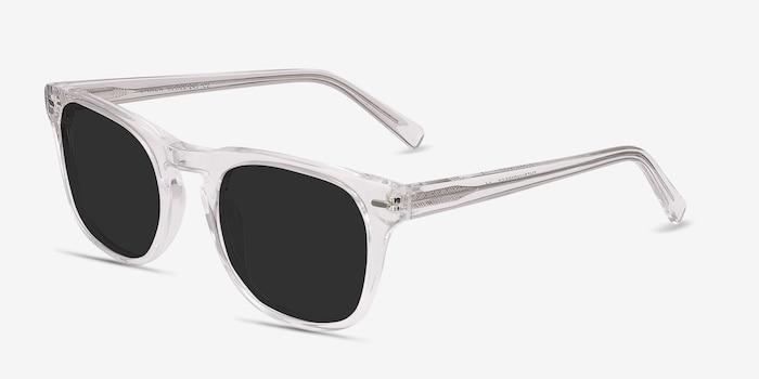 Daikon Transparent Acétate Soleil de Lunettes d'EyeBuyDirect, Vue d'Angle