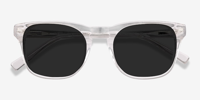 Daikon Clear Acetate Sunglass Frames from EyeBuyDirect, Closed View