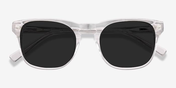 Daikon Transparent Acétate Soleil de Lunettes d'EyeBuyDirect, Vue Rapprochée