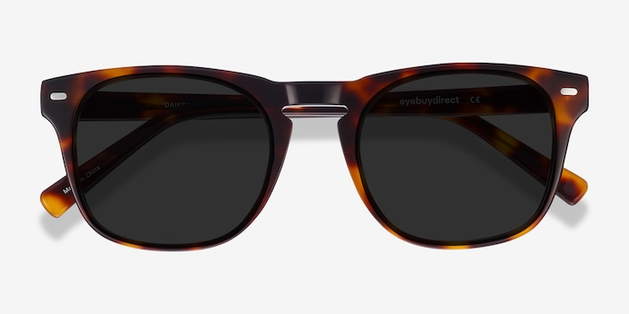 Daikon Tortoise Acetate Sunglass Frames from EyeBuyDirect, Closed View