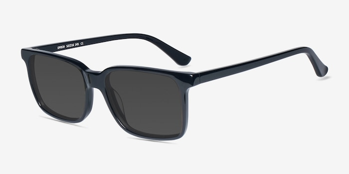 Epoch Black Acetate Sunglass Frames from EyeBuyDirect, Angle View