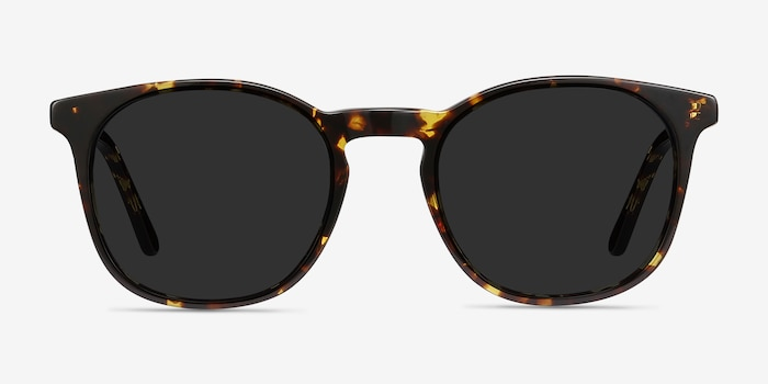 Safari Dark Tortoise Acetate Sunglass Frames from EyeBuyDirect, Front View