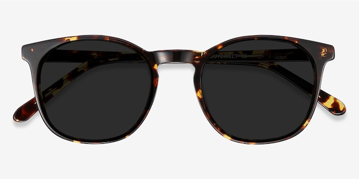 Safari Dark Tortoise Acetate Sunglass Frames from EyeBuyDirect, Closed View