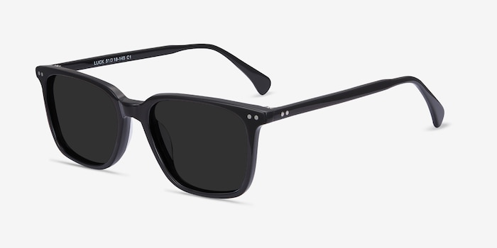 Luck Black Acetate Sunglass Frames from EyeBuyDirect, Angle View