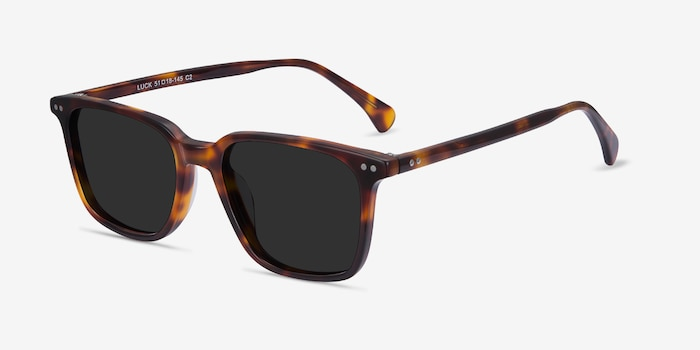 Luck Tortoise Acetate Sunglass Frames from EyeBuyDirect, Angle View
