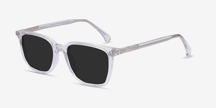 Luck Clear Acetate Sunglass Frames from EyeBuyDirect, Angle View