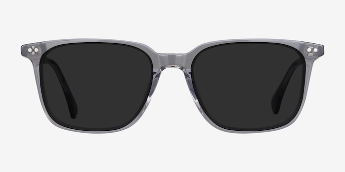 Luck Clear Gray Acetate Sunglass Frames from EyeBuyDirect, Front View