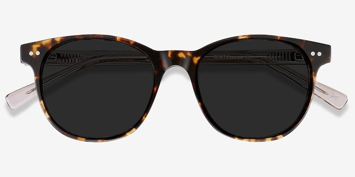 Sol Tortoise Brown Acetate Sunglass Frames from EyeBuyDirect, Closed View