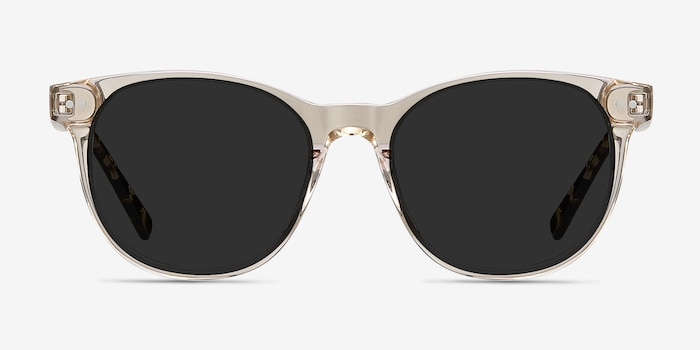 Sol Champagne Acetate Sunglass Frames from EyeBuyDirect, Front View