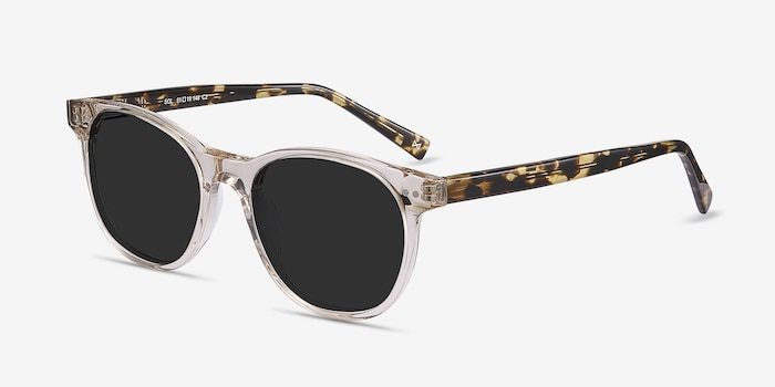 Sol Champagne Acetate Sunglass Frames from EyeBuyDirect, Angle View