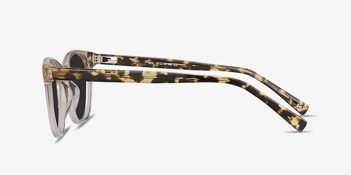 Sol Champagne Acetate Sunglass Frames from EyeBuyDirect, Side View