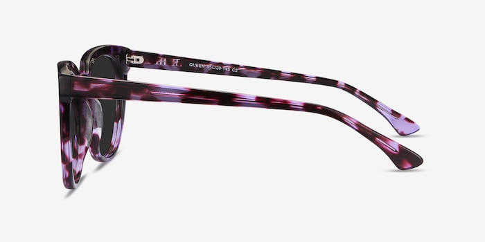 Queen Purple Tortoise Acetate Sunglass Frames from EyeBuyDirect, Side View
