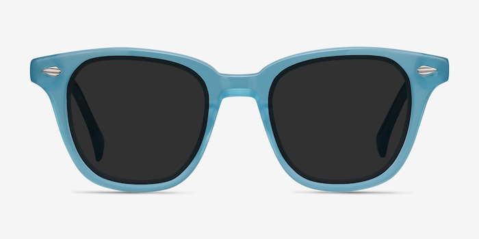 Sao Paulo Turquoise Acetate Sunglass Frames from EyeBuyDirect, Front View