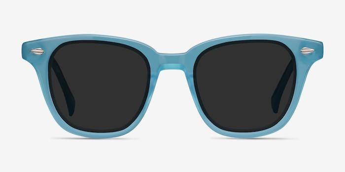 Sao Paulo Turquoise Acétate Soleil de Lunettes d'EyeBuyDirect, Vue de Face