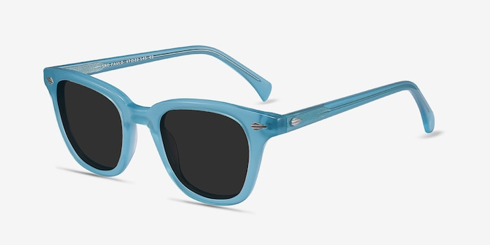 Sao Paulo Turquoise Acetate Sunglass Frames from EyeBuyDirect, Angle View
