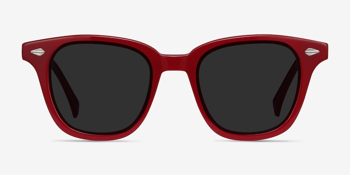 Sao Paulo Rouge Acetate Sunglass Frames from EyeBuyDirect, Front View