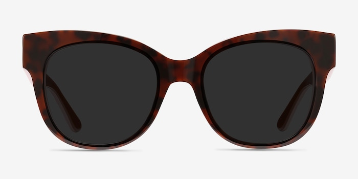 Tahiti Tortoise Acetate Sunglass Frames from EyeBuyDirect, Front View