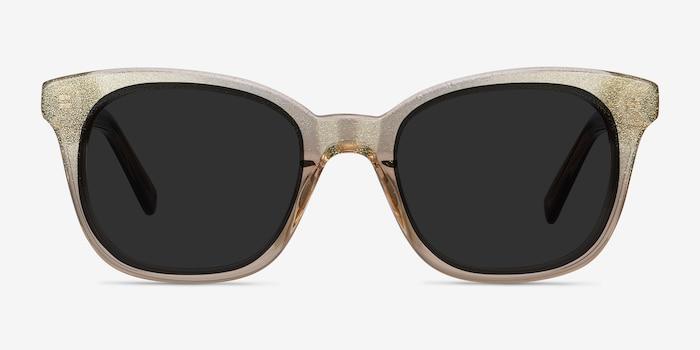 Quartz Golden Acétate Soleil de Lunettes d'EyeBuyDirect, Vue de Face
