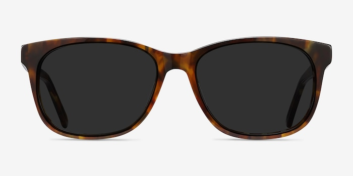 Borneo Tortoise Acetate Sunglass Frames from EyeBuyDirect, Front View