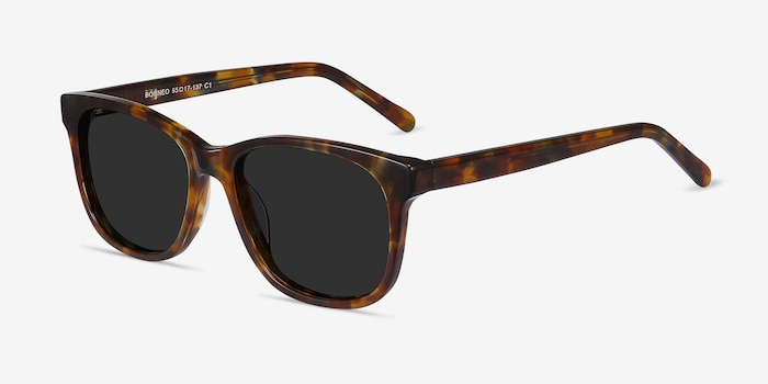 Borneo Tortoise Acetate Sunglass Frames from EyeBuyDirect, Angle View