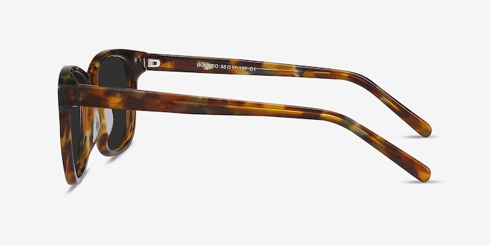 Borneo Tortoise Acetate Sunglass Frames from EyeBuyDirect, Side View