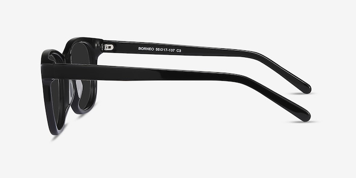 Borneo Black Acetate Sunglass Frames from EyeBuyDirect, Side View