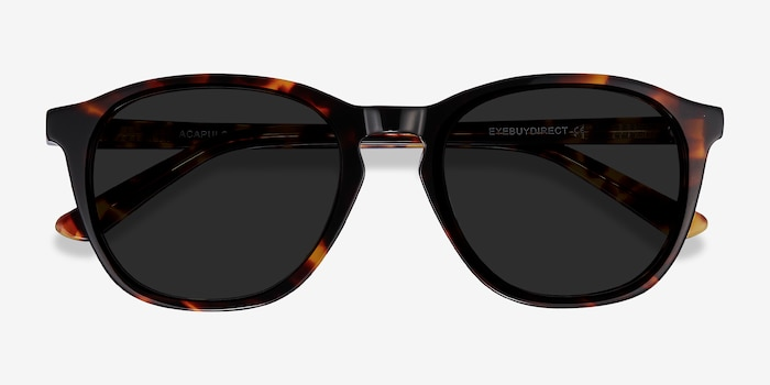 Acapulco Tortoise Acetate Sunglass Frames from EyeBuyDirect, Closed View