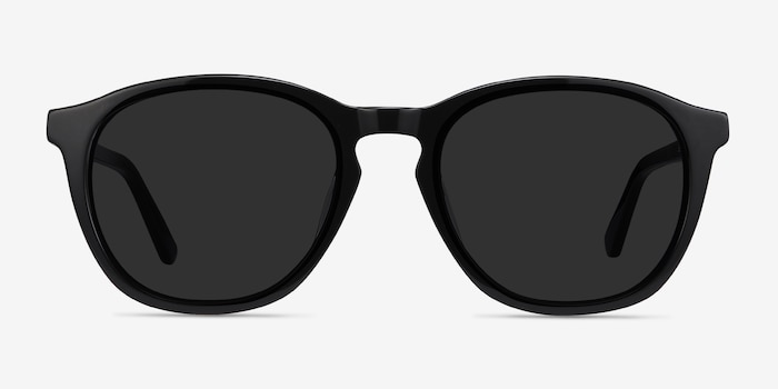 Acapulco Black Acetate Sunglass Frames from EyeBuyDirect, Front View